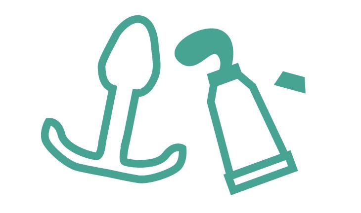 塗り薬を付けられる溝付